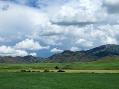 The hills of southern Idaho (jimsawthat) Tags: sky clouds rural landscape idaho downey