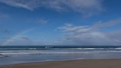 Rainbow at sea (Ralph Green) Tags: ocean sea clouds rainbow sand surf waves australia victoria greatoceanroad