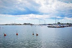 (Sameli) Tags: sea landscape water summer boat boats harbor island view sky helsinki suomi finland