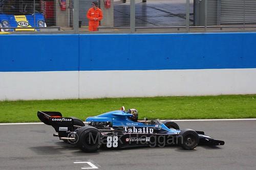Historic Formula One racing at the Masters Historic Series at Donington Park, July 2016