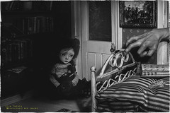 insomniac witch dream (olgavareli) Tags: horror witch nightmare dream doll black white scale dark room sad monster story olga vareli
