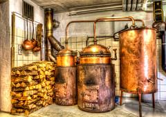 Distillery old - HDR (bohnengarten) Tags: alps schweiz switzerland swiss berge distillery moutain graubünden schnapsbrennerei surrein