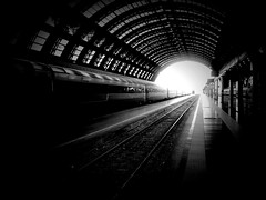 bw milan milano s bn galaxy railways binari thestation... (Photo: Diego Menna on Flickr)