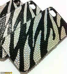 Zebra Case Em Strass para iPhone 4/4s (iGlaze Acessrios Apple) Tags: top case luxo prola iphone strass capinha brilhante pedrarias mmcshop