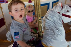 Cash and Elizabeth Ride The Carousel  - WDW's Magic Kingdom - 5.13 (meanderingmouse) Tags: travel carousel disney cash disneyworld magickingdom canonef24105mmf4lis