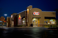 Raising Cane's (ezeiza) Tags: food chicken oklahoma sign night restaurant drive fingers fastfood fast canes drivethru through ok edmond drivethrough chickenfingers thru raising raisingcanes