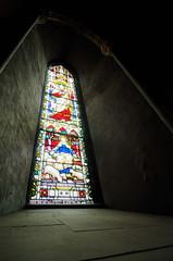 Stained glass window, Christ as Good Shepherd (Rob Hurson) Tags: dublin church cathedral pentax stpatrickscathedral wideangle hdr stainedglasswindow uwa pentaxk30 samsung1224f4ed 1224f4ed samsung1224mmf4