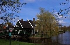 Zaanse Schans, North Holland, the Netherlands (Luke,Ma) Tags: blue sky panorama house holland netherlands windmill dutch amsterdam digital landscape four lumix power g traditional north nederland kingdom windmills olympus x m panasonic f micro 28 asph f28  molen zaanse schans 43 omd noordholland thirds zaandam noord gx ois 1235  vario zaandijk  m43        koogzaandijk em5 flickraward 1235mm flickrtravelaward 1235mmf28 hhs12035 hs12035