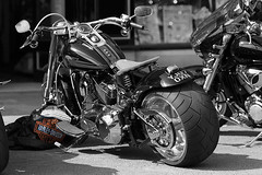 Harley Black and White with a hint of colour! (clegster) Tags: uk nikon bath harley davidson matlock d4