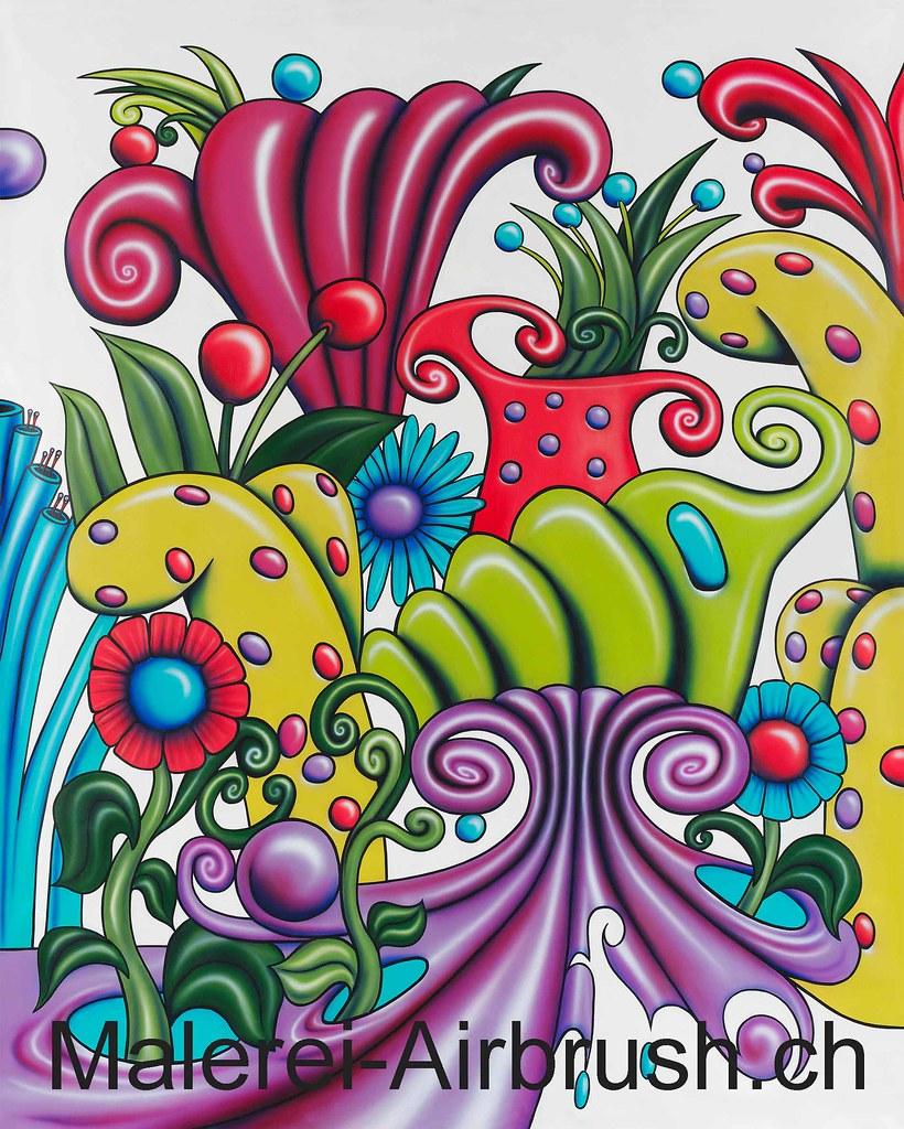 Web Muster Trend 10 (Bernhard Winkler) Tags: Raumgestaltung Airbrush  Ambiance Malerei Wandmalerei Wandfarbe