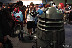 Dalek (smellerbee) Tags: newzealand anime nerd comics toys media geek manga culture auckland nz convention scifi armageddon drwho dalek collectables cartoons 2012 exterminate asbshowgrounds