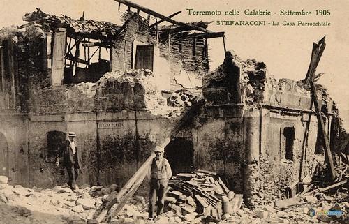 Terremoto delle Calabrie - settembre 1905 - Stefanaconi Casa Parrocchiale_L