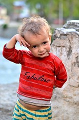 1/100 - Fabulous Alimah (Abhishek Shirali) Tags: india mountains children kashmir pahalgam dancingchild