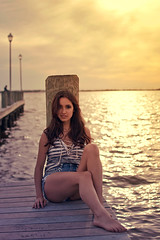 Pier 2 (Hey_Lee! Photography) Tags: ocean new sunset sea black love ice beach girl fashion shirt closet photography bay pier seaside pretty photobooth dress stripes swings arcade nj cream games clothes anchor jersey boardwalk shorts heights gigis heylee heyleephotography