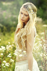 summer girl (gestiefeltekatze) Tags: summer sun flower beauty hair model long natural blond