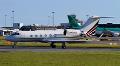 NJI Sales Inc Gulfstream Aerospace G4-SP (birrlad) Tags: ireland dublin sunlight up airplane airport haze taxi aircraft aviation airplanes line landing heat approach takeoff runway airliner