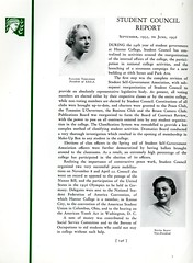 Student Council Report (Page 1/2) (Hunter College Archives) Tags: students club 1936 photography politics yearbook clubs government hunter activities studentgovernment studentcouncil huntercollege studentorganizations organizations studentpolitics studentactivities studentclubs wistarion studentlifestyles thewistarion