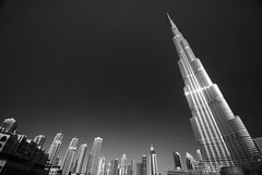 Burj Khalifa & Friends (Furious Zeppelin) Tags: bw white black tower nikon dubai khalifa burj highest tallest d80 furiouszeppelin fz