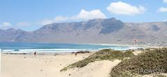 Plage de surf au nord de Lanzarote