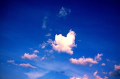 Clouds (sssaaraa) Tags: blue summer sky white clouds interesting heart sunny lovelyclouds