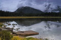 Vermillion Lakes - Banff (Jackpicks) Tags: canada nature water misty dock stormy alberta tranquil banffnationalpark vermillionlakes mygearandme mygearandmepremium mygearandmebronze