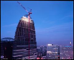 Wangjing 200m tower (Ben_Lepley +_+) Tags: china skyscraper steel beijing 200m zahahadid ccdi toppedout wangjingsoho