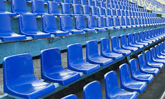 NFL seats (Francesco Corallo) Tags: park blue summer playing field sport football concert chair theater sitting baseball stadium empty seat soccer nfl watch nobody games row number plastic aisle deck event american seats olympic bleachers athlete popular majestic spectator section bizarre onlookers