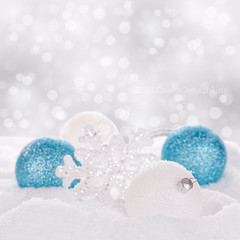 Christmas balls (Oxana Denezhkina) Tags: christmas new xmas blue winter light party white holiday snow abstract tree closeup silver ball festive season square fun happy shiny december bright bokeh decorative background object space traditional year seasonal decoration balls nobody celebration ornament card sphere gift round merry bauble celebrate decorate isolated