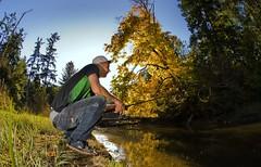 themackel (RobKramer) Tags: autumn leaves river rainbow fishing nikon bc salmon surrey fisheye nickel d200 koho mackel
