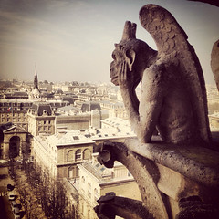 Notre dame gargoyle France by John Mutford, on Flickr