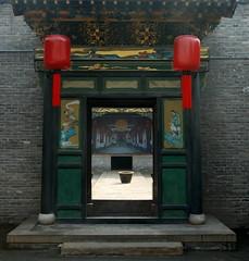 Qiao Courtyard Stage through Doorway
