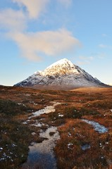 Sunrise on Buachaille Etive Mr (Matt 82) Tags: november winter mountain snow mountains nature sunrise landscape scotland nikon scenery glen glencoe loch 18mm scottishhighlands argyllandbute buachailleetivemr nikonafsdxnikkor1855mmf3556gvr d5100 matt82