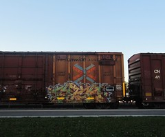 FATSO (YardJock) Tags: graffiti boxcar piece freighttrain railwaytracks moniker