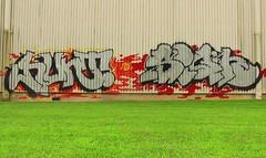 HUNT & SIGH (BLACK VOMIT) Tags: wall graffiti ol virginia track south side dirty richmond mc dos va sigh mayhem hunt ssp trackside
