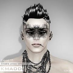 KMADD Tattoo ~ Liquid 11 (www.kmaddmoda.com) Tags: tattoo avatars secondlife facialtattoo maddoxdupont kmadd kmaddtattoo kmaddtats kmaddmoda
