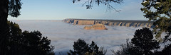 Grand Canyon (ArneKaiser) Tags: arizona sky panorama mist fog clouds landscape nationalpark grandcanyon inversion nationalparks autoimport