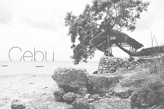 Cebu (nstuck985) Tags: sea blackandwhite bw beach water photoshop canon landscape typography sand rocks asia day south awesome text philippines east font type cebu treet 6d 2470mm