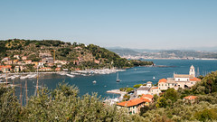 La Spezia (about_infinity) Tags: above city sea italy panorama sun mountains landscape boats day view sunny clear laspezia
