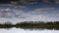 parallel reality (Sergey S Ponomarev) Tags: light sky reflection nature water clouds canon reflections landscape spring russia outdoor vyatka 450d viatka сергейпономарев