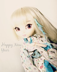 Happy New Year (Mekima) Tags: white doll background eu dk kimono pullip yami obitsu rewigged youtsuzu mekima