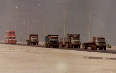 Leyland PD3 in traffic Dammam dock road, Saudi Arabia (AEC760) Tags: bus lorry saudiarabia leyland britishleyland doubledeckbus dammam southdown deserthighway