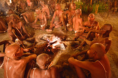 Sadhus (Leonid Plotkin) Tags: religious asia religion hindu hinduism mystic sadhu ascetic holyman mela allahabad uttarpradesh kumbhmela kumbhamela