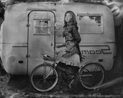 Ready to ride (LukeOlsen) Tags: usa bicycle oregon portland tintype wetplate 4x5 largeformat scamp collodion wetplatecollodion alumitype lukeolsen scamptrailer