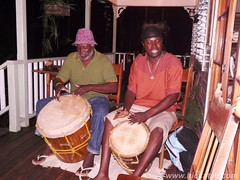 Ray and Mario (Dis da fi we) Tags: garifuna garifunadrumming puntagorda toledodistrict belize drumming lessons drumminglessons toledo hickateebelize hickateepuntagorda jungle rainforest forest wildlife culture cottages hickatee