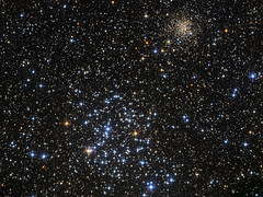 Open Star Clusters M35 and NGC 2158 (Oleg Bryzgalov) Tags: opencluster gemini deepspace astrophoto m35 ngc2158 astro:subject=m35 astro:gmt=20140205t2130