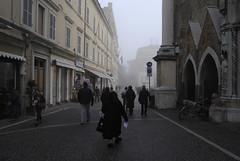 Street (Abele49) Tags: case via persone nebbia pesaro branca abele49