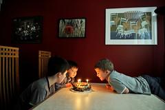 The Big 3 (MrHRdg) Tags: birthday music art freeassociation umbrella painting table chair candle birthdaycake preservationhall tchaikovsky