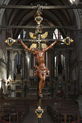 Religion & Myth (iconicphotoservices) Tags: travel venice vacation italy color church vertical religious europe european christ cross interior religion jesus christian indoors photograph christianity biblical crucifixion crucify religionandmyth