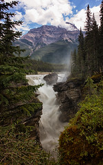 The Crush (Kristin Repsher) Tags: canada mountains rockies waterfall nikon alberta mountkerkeslin athabascariver athabascafalls icefieldsparkway canadianrockies d700