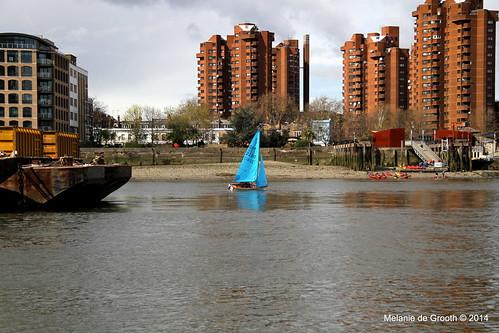 Blue Sailing Boat 2